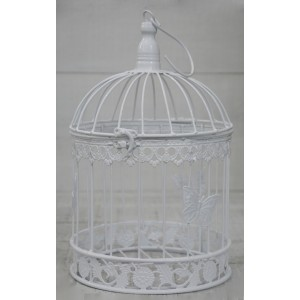 "White cage, Decorative Metal, Elegant, Original ""Butterfly"". Decor Cages, Wedding, Communion, Garden."