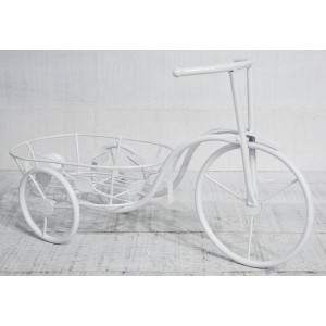 Bike Planter Rural White, made in Metal, decor, Vintage and Elegant, Garden - Home and More