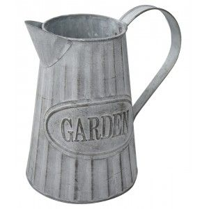 """Planter box Decorative Vintage Metal for Interior/Exterior. Original in the form of a Watering can """"Garden"""" 20x9x19 cm - Home"""