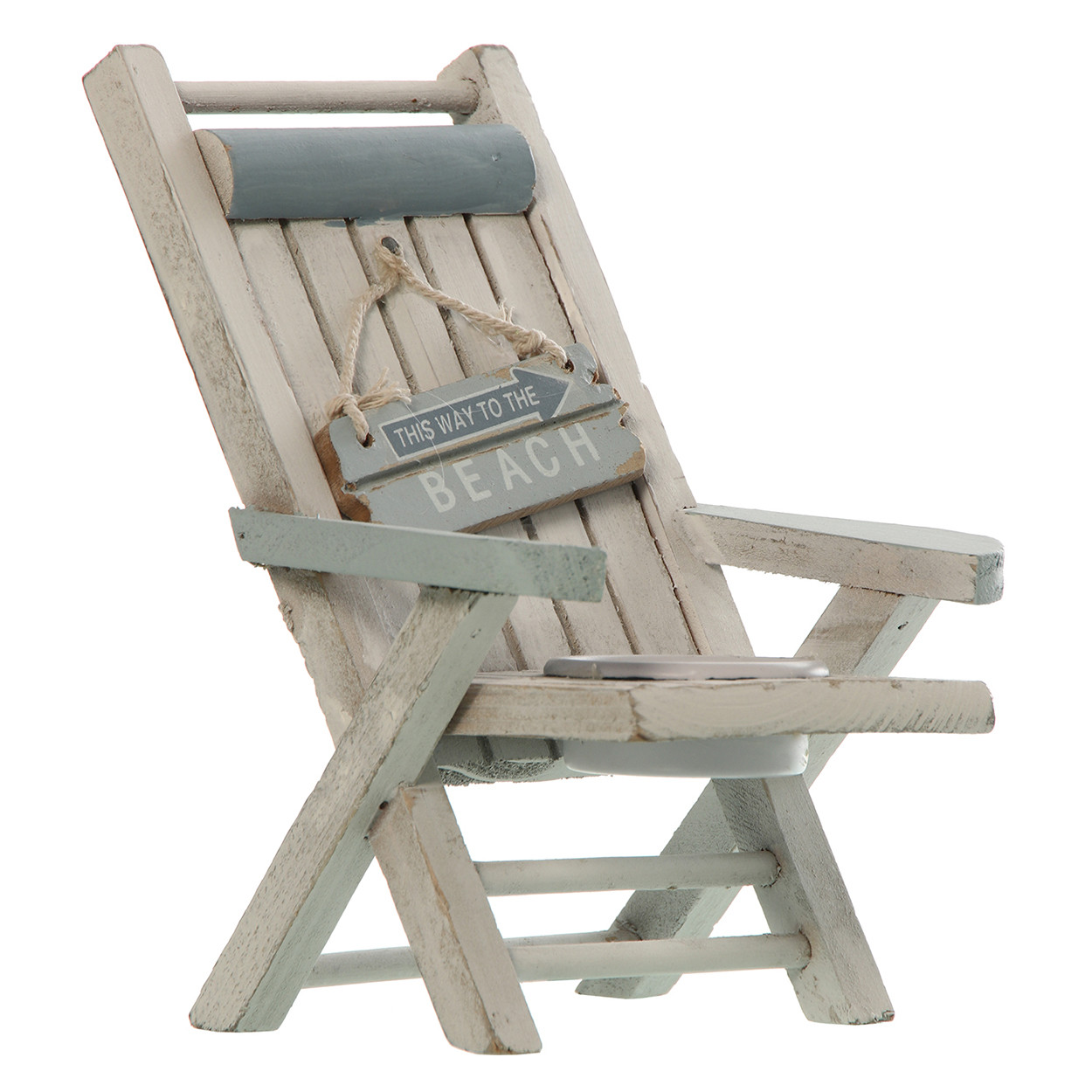 Candleholders Chair Beach Wood, candle Holders Original, 13,5x11x16cm - Home and More