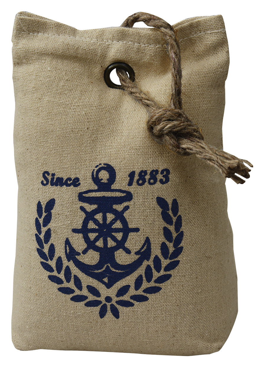 """Sujetapuertas Decorative Textile, Design Sailor """"Since 1883"""" 1,3 kg Form of a sleeping Bag with Sisal Natural for Doors 17x7x12"""
