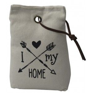 Sujetapuertas Decorative Textile, Phrase, Motivating 1,3 kg Form of Sack with Rope of Leather to Doors 17x7x12 cm