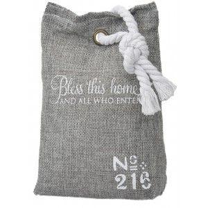 Sujetapuertas Decorative Textile 1.3 kg , Grey, Design of bag with Original Style/, Modern, Phrase, Motivating 17x7x12cm