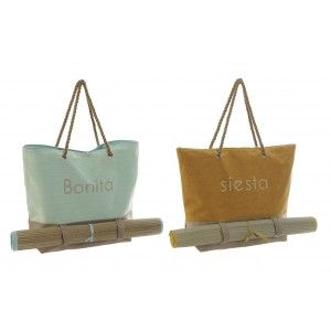 Bag Women Mat Canvas and Cotton, storage Bag large capacity 60x16x39 cm