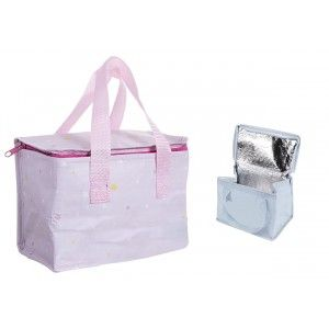 Insulated bag Snack, Zipper and Handles ,Stamped Stars. Bag My Baby 21x13x16cm - Home and More