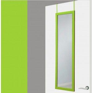 Green door mirror with no holes .