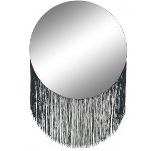 Circular mirror with Fringes Wall, Mirror Wall Decorative for Bedroom. Decoration Modern Home 40x58 cm