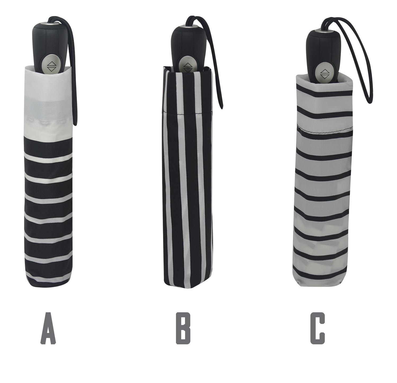 Paraguas Plegable Mujer, Paraguas Originales a Rayas Black&White Devota y Lomba. Extraresistente Antiviento y Ligero ø102 cm