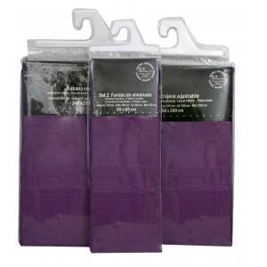 Sheet set Lilac Bedding, Bottom Sheet, Adjustable bed Sheet Countertop and Set 2 Pillowcases 240x270 cm