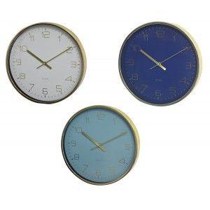 Reloj Pared Dorado Analógico Original, Relojes de Pared Modernos 30x4 cm
