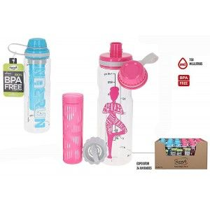 Water bottle for Sports Decorated 750ml, Reusable water Bottles, Bottle without BPA 110x70x250 mm