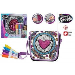 Crea tu Bolso de Lentejuelas, Multicolor, Rotuladores de Colores. Juegos Infantiles de Creatividad 305 x 50 x 290 mm