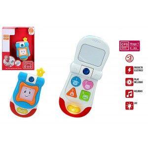 Teléfono Móvil Interactivo Infantil para Bebés con Luces y Melodías, Juguetes Recién Nacidos Aprendizaje Niños 160 x 60 x 220 mm
