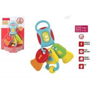 Llavero Sonajero con Sonidos, Melodías y Luces para Bebés, Juguete Infantil Llavero Multicolor 160 x 55 x 250 cm