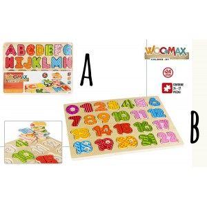 Puzzle de Madera Infantil de Animales, 24 -27 Piezas, Puzzles  Originales, Juguetes Infantiles +24M (300 x 10 x 230 mm)