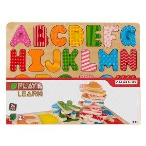 Wooden Puzzle Children Animals, 24 -27 Pieces, Puzzles, - Original, Toys for Children +24M (300 x 10 x 230 mm)