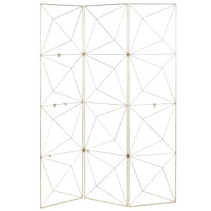 Folding Golden Metal, Lead Metal Portanotas Bright, Atmosphere Chic and Modern, 120x160cm - Home and More