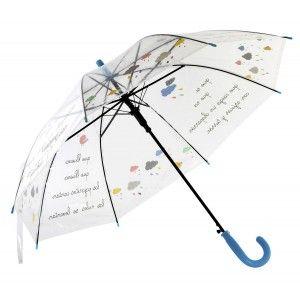 Umbrella Long-Children's, Umbrella, Original, Transparent, with Song, an original Design. ø67cm -Home and more