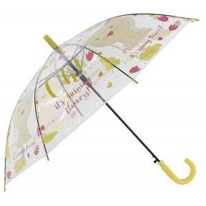 Paraguas Largo Infantil, Paraguas Original, Transparente Estampado Animal,Oso, Diseño original. ø66cm -Hogar y más