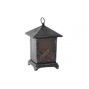 Decorative fireplace Antique Copper-LED, with Battery 2000mAH, Interior Decoration, 15X15X23 cm - Home and More