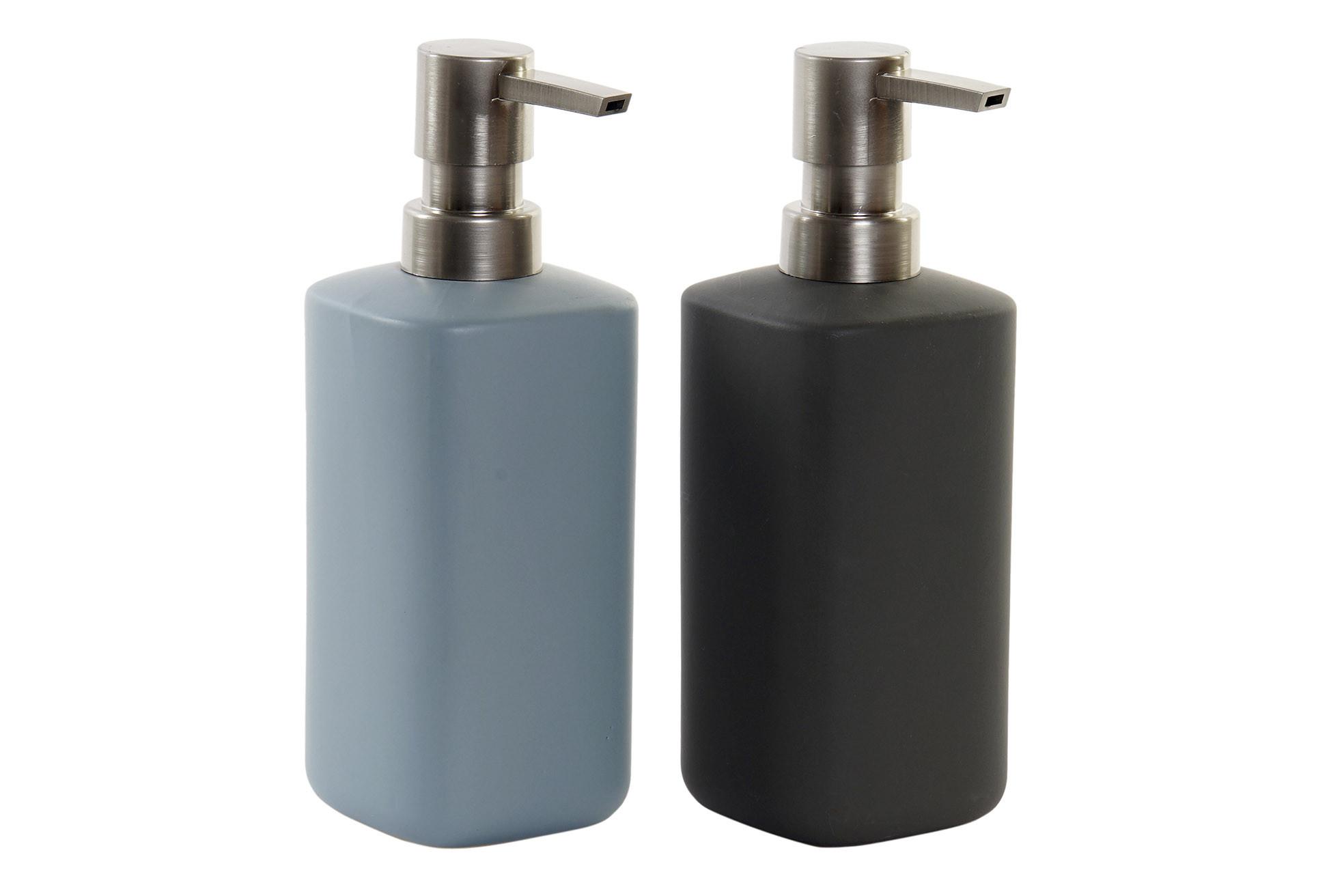 Dosificadores de Jabón Mate en Cerámica para Baño o Cocina, Dosificador de Jabón Manos/Ducha 7x19 cm