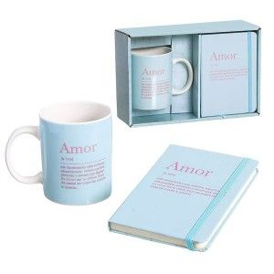 "Gift Set Cup Book, Meaning ""Love"" 300mL, 8x9,5x8cm -Home and More"