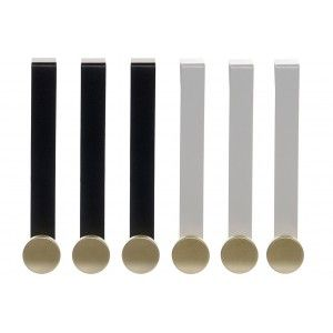 Perchero de Pared Moderno en set de 3 de Metal, Percheros Pared Originales, Gancho Individual 2X5X17  cm