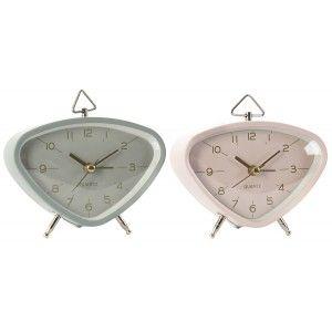 Reloj de Sobremesa Vintage Decorativo, Reloj Sobremesa Metal. Diseño Vintage/Elegante 11X5X9 cm - Hogar y Más