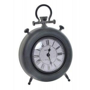 Reloj Sobremesa Vintage Decorativo, Reloj Sobremesa Metal. Diseño Vintage/Elegante 16X5X23 cm - Hogar y Más