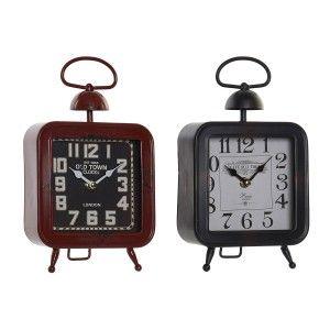 Reloj de Sobremesa Vintage Decorativo, Reloj Sobremesa Meta Cuadrado. Acabado Envejecido Diseño Vintage 15,5X6X27cm  Hogar y Más
