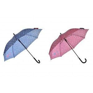 Paraguas Largo Estrellas, Paraguas Original de Acero Inoxidable. Paraguas Grandes Mujer 95x85 cm -Hogar y más