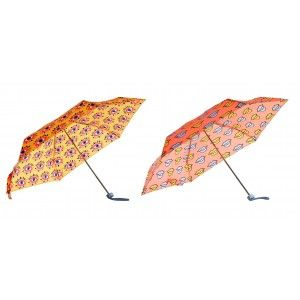 Small Folding umbrella Orange, Umbrella Original Comic Woman 95x85 cm