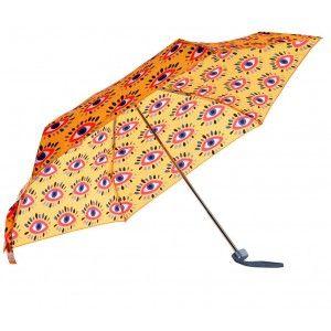 Paraguas Plegable Pequeño Naranja, Paraguas Originales Comic Woman 95x85 cm