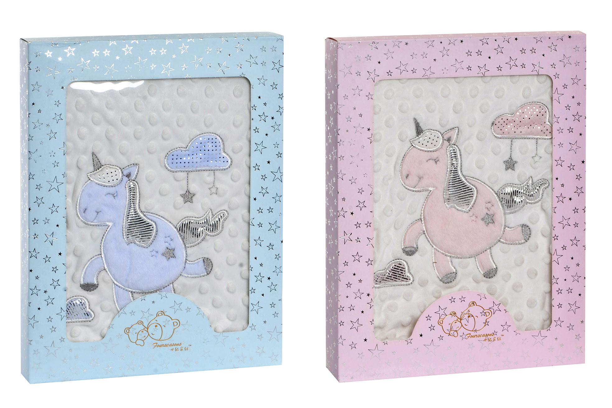 Manta Infantil con Tacto Agradable, Manta con Estampado de Unicornio, Manta para cuna, 100x75cm - Hogar y Más