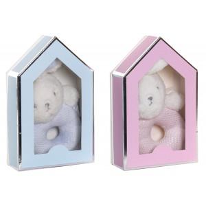 Peluche Infantil Conejito, Peluche de Conejo Para Bebés y Niños. Diseño Animal, con estilo Infantil 14X5X22cm- Hogar y Más