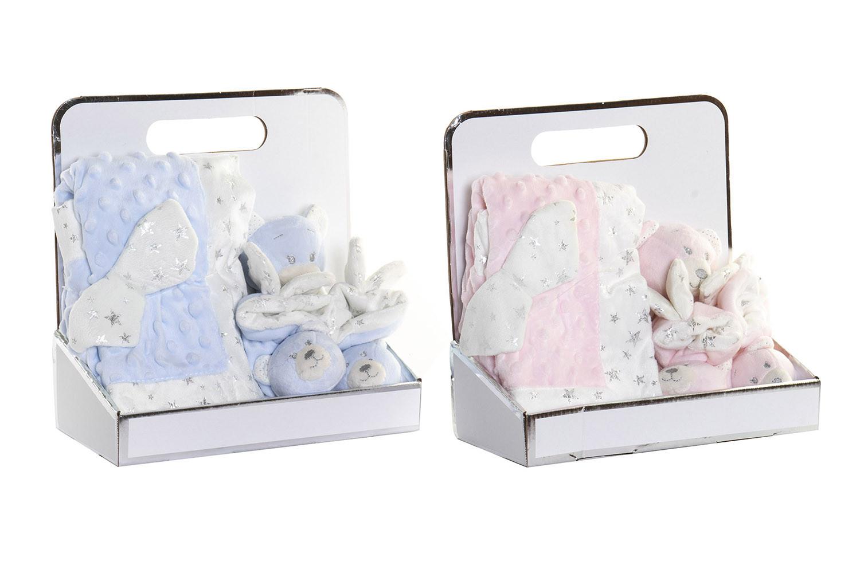 Peluche Oso con Manta y Patucos para Bebés, Regalo recién Nacido. Manta Bebé Suave 26x13x26 cm - Hogar y Más