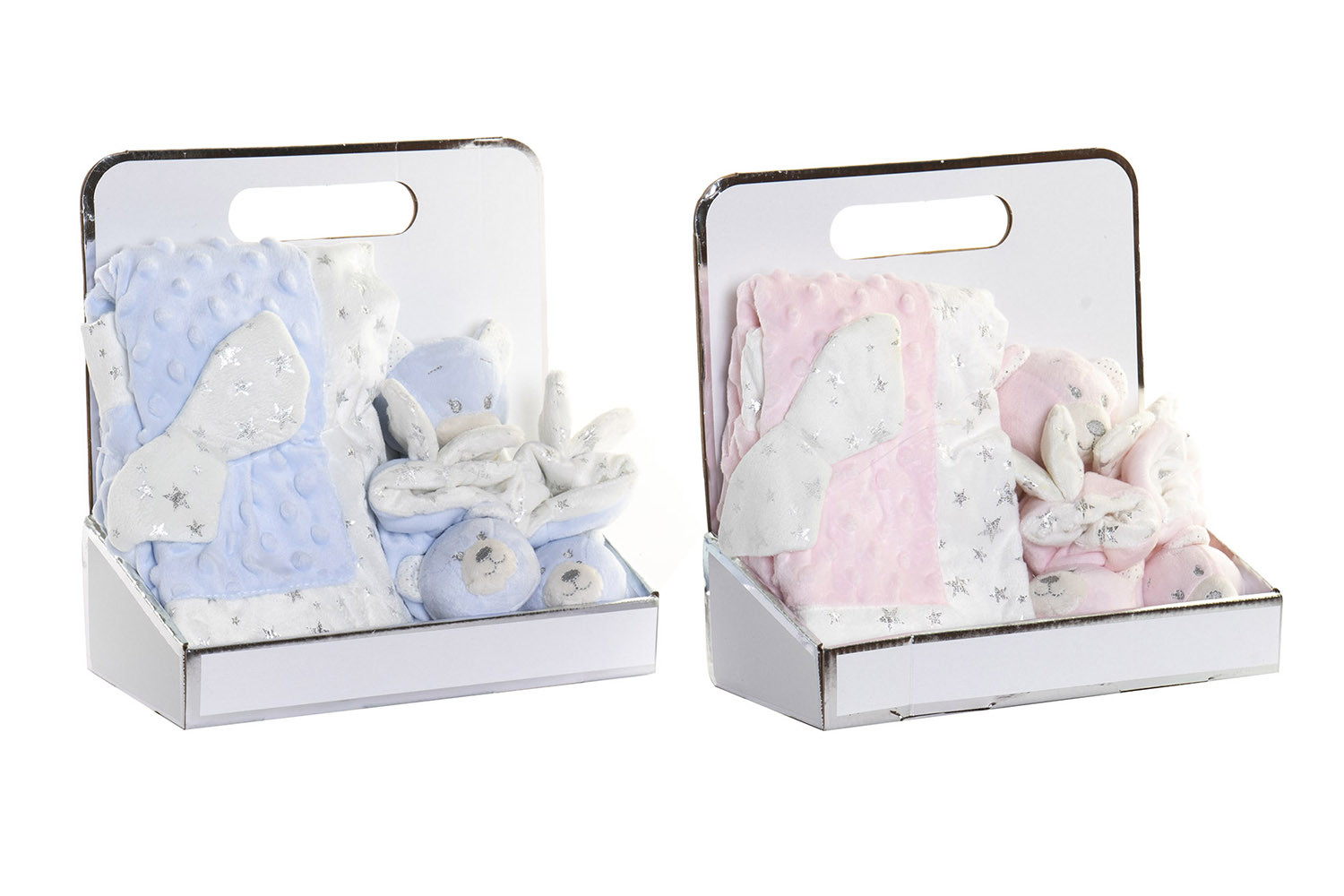 Teddy Bear with Blanket and Booties for Babies, Gift for a newborn. Blanket Baby Soft 26x13x26 cm - Home and More
