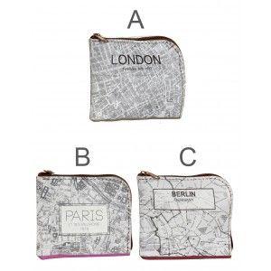 Wallet Cardboard Green, Map. Purses small Original 10X1X9 cm