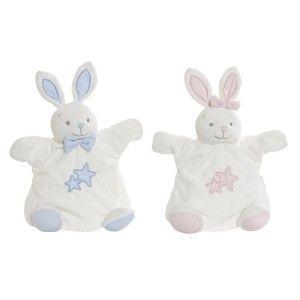Doudou Conejito con Estrellas, Ideal para Niños y Bebés, Diseño Animal, Doudou Infantil  18x11x23cm - Hogar y Más