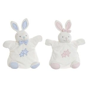 Doudou Rabbit with Stars, Ideal for Children and Babies, Animal Design, Doudou Children 18x11x23cm - Home and More