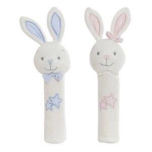 Peluche Alargado Conejito con Estrellas, Ideal para Niños y Bebés, Diseño Animal, Peluche Infantil 8x7x25cm - Hogar y Más