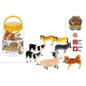 Animal Boat with 8 Accessories for Children, Figures of Farm Animals. Toys for children 15x20 cm