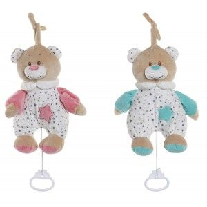 Teddy Bear Musical Baby, with hook to Hang it. Design of Animal, with Child style 20x9x25cm