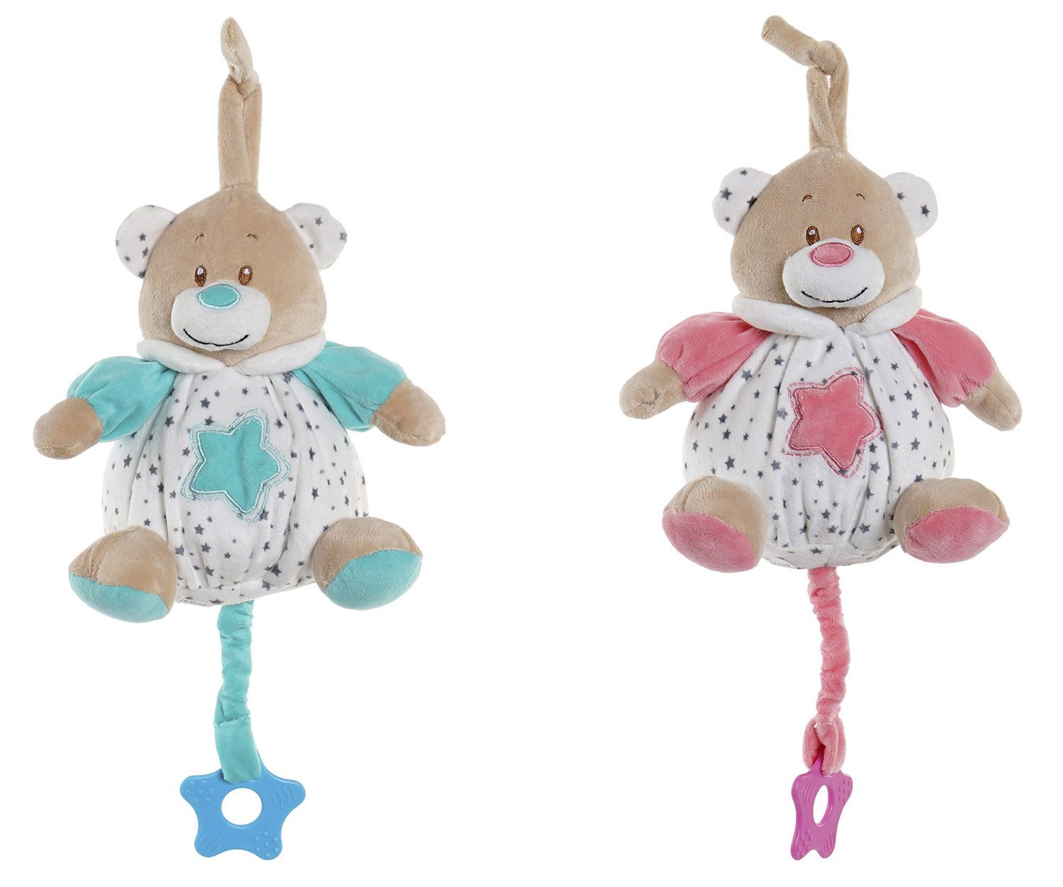 Teddy Bear Musical Baby, with hitch Star to be able to Hang it. Design of Animal, with Child style 16x16x17cm