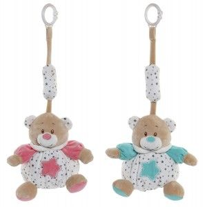 Plush Teddy bear, Rattle for Babies, with hook to Hang it. Design of Animal, with Child style 16x16x18cm
