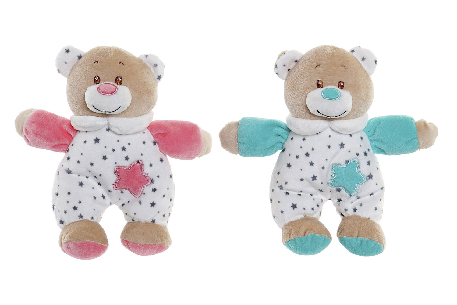 Plush Teddy bear, Rattle Baby, Rattle format Stuffed. Design of Animal, with Child style 27x6x18cm