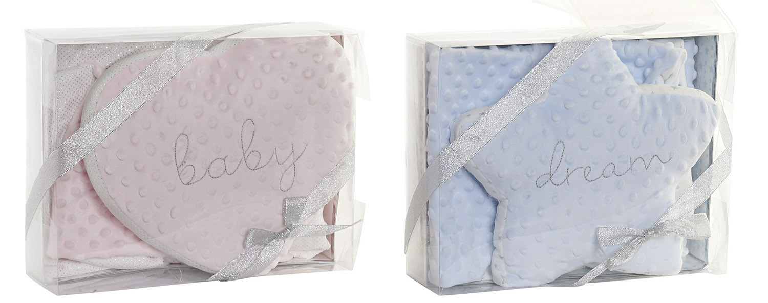 Set of Blanket and Cushion Star, Baby Gift newborn. Blanket Baby Soft 75x100cm - Home and More
