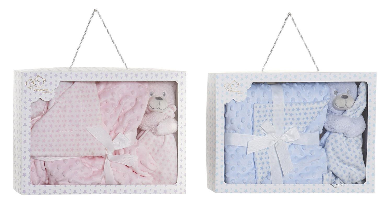 Set de Manta y Doudou de Osito con Bultitos, Ideal para Niños y Bebés, Diseño Estrellas, Doudou Infantil 75x100cm - Hogar y Más