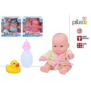 Muñeco Bebé de Juguete para niños, Juguetes Infantiles con Accesorios Originales 16,5x11.7x16,5 cm