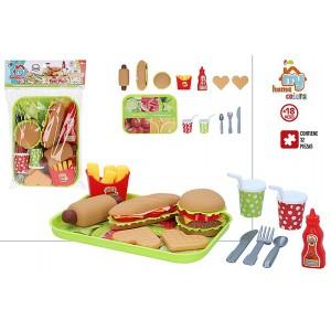 Game Food Tray for Children, 32 pieces. Children's toys, Original 26x19,5 cm